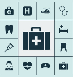 Medicine icons set collection of physician vector