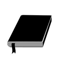 Monochrome silhouette with book with ribbon vector