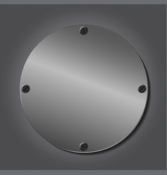 round metal plate vector image