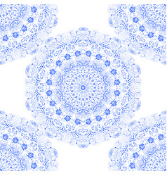 seamless texture pattern blue lace vector image