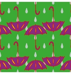 Umbrella and drop geometric seamless pattern vector image