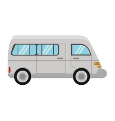 van commercial transport vehicle vector image