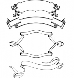 vintage wreath vector image