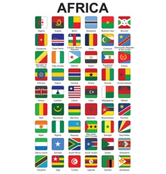 Buttons with african countries flags vector