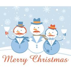 Snow gentelmen vector image