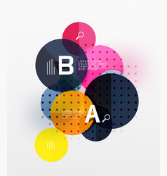 circle bubbles modern geometric background vector image