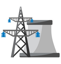power plant icon vector image