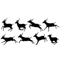 Running antelope vector