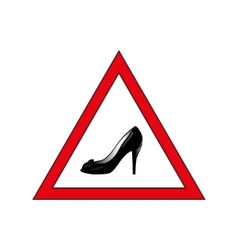 Shoes in the warning sign vector