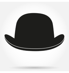 Silhouette symbol of bowler hat on a white vector