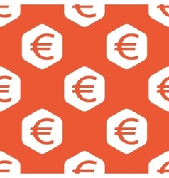 Orange hexagon euro pattern vector