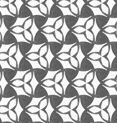Monochrome three pedal flowers with dark triangles vector