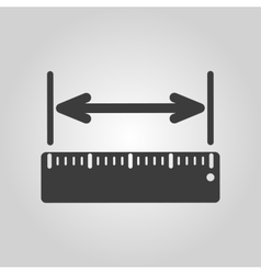 The width measurement icon ruler and straightedge vector