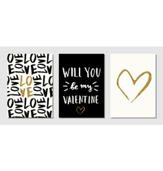 Valentines day designs set vector