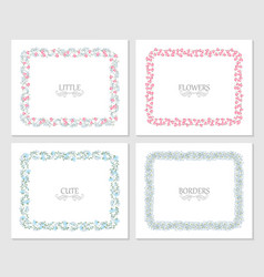 a floral frame collection vector image
