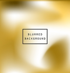 Blurred abstract gradient background gold white vector