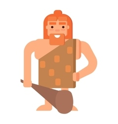 Caveman primitive stone age people vector image