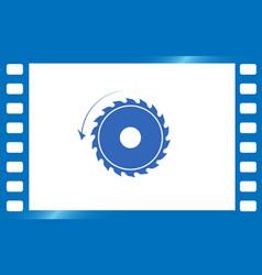 circular saw sawmill icon vector image