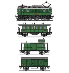 Classic electric train vector
