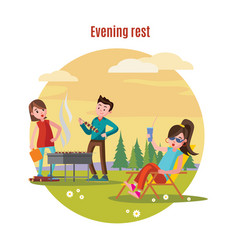 colorful outdoor recreation concept vector image vector image