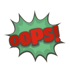 comic boom oops icon flat style vector image