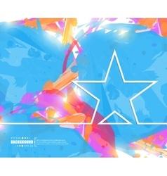 Creative star art template vector