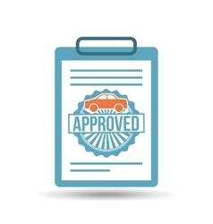 credit approved design vector image