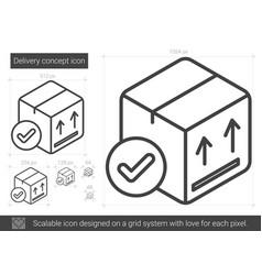 Delivery concept line icon vector