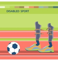Disabled athletes sport competition vector