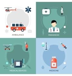 Emergency paramedic icons set vector