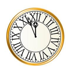 golden clock vector image vector image