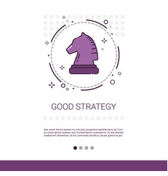 good strategy business planning banner with copy vector image