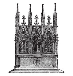 Gothic altar is an erection the offering vintage vector