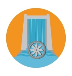 Hydraulic energy ecology icon vector