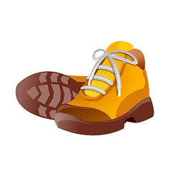 Icon hiking shoes vector