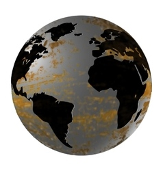 Iron Planet Earth isolated object vector image vector image
