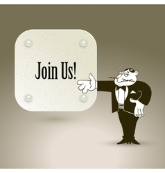 Join us cartoon concept abstract business vector