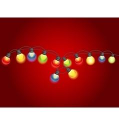 Multicolored Garland Lamp Bulbs Festive vector image vector image
