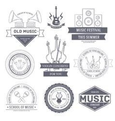Music set label template of emblem element for vector