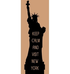 New york travel card vector image