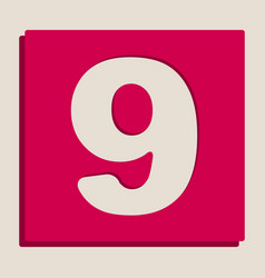 Number 9 sign design template element vector