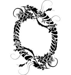 Ornate framework vector image vector image