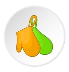 Potholders icon cartoon style vector image