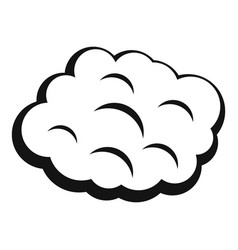 Round cloud icon simple style vector