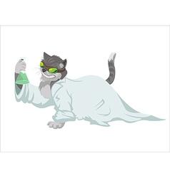 Scientist cat vector image vector image