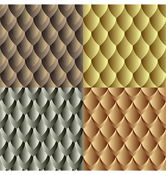Seamles dragon skin pattern vector