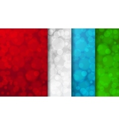 Set of colored blurred backgrounds vector image vector image