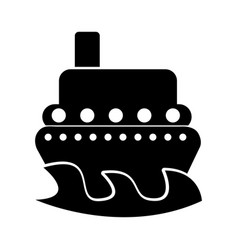 ship boat isolated icon vector image