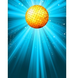 Sparkling blue disco ball vector image