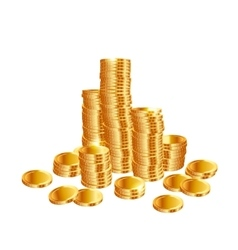 Stacks of gold coins vector